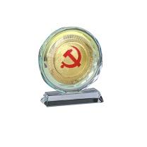 国产 定制水晶奖牌 含金属片 规格:150*130*40mm(DZ) YF-050**85  国网链接