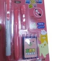 晨光 M&G 直液式钢笔 钢笔+消色笔+4支替换墨囊 (彩色) 可擦