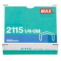 美克司 MAX 统一订书针 2115 1/4-5M  5000枚/盒 (适用于订书机HD-88/88R)MS93125 包装更替中
