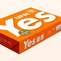 益思 YES 复印纸 A470g (白) 500张/包,8包/箱 (橙益思)
