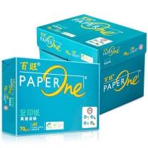 百旺 PAPER One 复印纸 绿色包装 A4 70g  500张/包 5包/箱 (华中、华西8包/箱)