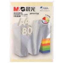 晨光 M&G 彩色卡纸 APYVYT58 A4 80g (5色混色) 100张/包