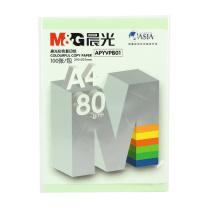 晨光 M&G 彩色复印纸 APYVPB0174 A4 80g (淡绿色) 100张/包
