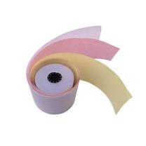 图润 三层无碳收银纸 75mm*60mm (白红黄) 2卷/筒 120卷/箱 (汇洁专用)