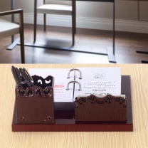 国产 带笔筒便签盒日历 台历架20*32cm图片仅供参考,以实物为准