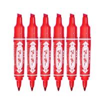 斑马 大麦奇双头记号笔 MO-150 粗头6.0mm,细头1.5-2.0mm (红色) 10支/盒
