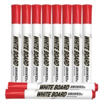 晨光 M&G 单头易擦白板笔 AWMY2202 2-3mm (红色) 10支/盒
