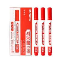 晨光 M&G 可加墨单头白板笔 AWM26301 (红色) 10支/盒