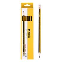 晨光 M&G 黄黑色抽条笔杆HB铅笔 AWP30803  12支/小盒