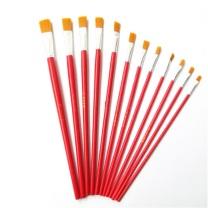 上海生花牌 油画笔 1号 (红色) 25支/盒 尼龙油画笔红杆
