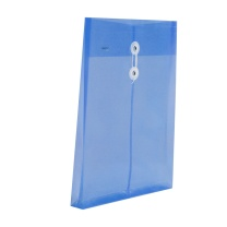金得利 KINARY 透明档案袋 F118 A4 (蓝色、黄色、红色、绿色) 12个/包 (颜色随机)