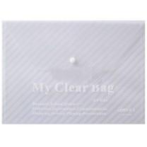 远生 Usign 透明文件袋/纽扣 US-W209 A4 (红色、蓝色、绿色、黄色、白色) 12个/包 (颜色随机)