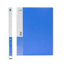 得力 deli 单强力夹加插袋文件夹 5301 A4 背宽18mm (蓝色) 120个/箱