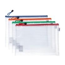 晨光 M&G 普惠型网格拉链袋 ADMN4282 A4  10个/包