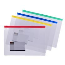 远生 Usign 票证透明拉边袋 US-F54 A5 (红色、蓝色、黄色、绿色) (颜色随机)