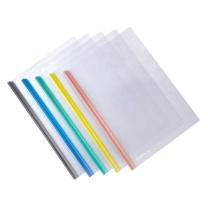 齐心 Comix 五色抽杆夹套装 A856 A4 6mm (红色、蓝色、绿色、黄色、灰色) 5色/套