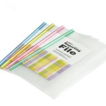 晨光 M&G 抽杆式报告夹 AWT90945 A4 5mm (红色、蓝色、黄色、绿色、白色) 10个/包 (大包装)(颜色随机)