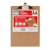 晨光 M&G 蝴蝶夹木质纤维板 ADM94875 A4 (原木色) 24个/箱