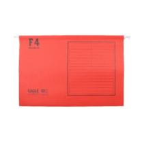 益而高 Eagle 挂快劳文件夹 9351F F4 (红色) 40片/盒
