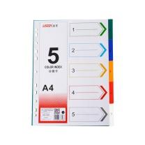 远生 Usign 五色胶质分类索引 US-005 (彩色) 5页/套