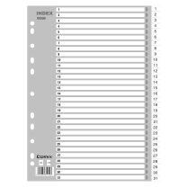 齐心 Comix PP数字1-31分类索引 IX899 (灰色) 31页/套