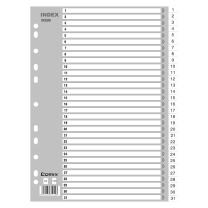 齐心 IX899 A4 11孔 31页 1-31月度PP索引纸 灰(单位:套)