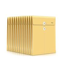 得力 deli 档案袋 5910  1包 12只A4防水档案袋 PP材质耐折文件袋 复古黄