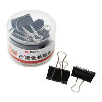 晨光 M&G Eplus筒装黑色长尾夹 ABS92732 50mm  12个/筒 48筒/箱
