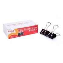 益而高 Eagle 黑色长尾夹 TY145 19mm  12个/盒