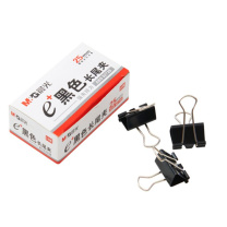 晨光 M&G Eplus盒装黑色长尾夹 ABS92729 25mm  12个/盒 12盒/包 240盒/箱