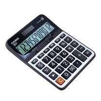 卡西欧 CASIO 12位数字显示金属面板办公计算器 DX-120B 中号