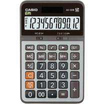 卡西欧 CASIO 12位数字显示金属面板办公计算器 AX-120B