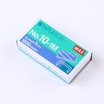 美克司 MAX 普及版订书针 NO.10-1M 10#  1000枚/盒 MS90142(包装更新 省力版)