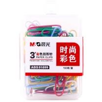 晨光 M&G PP盒彩色回形针 ABS91699 28mm  100枚/盒