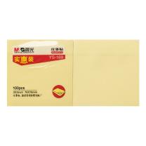 晨光 M&G 自粘便条纸 YS-169 3*3 (黄色) 100页/本 (实惠装)
