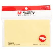 """晨光 M&G 优事贴自粘便条纸 YS-05 AS35A10110 3""""*5"""" 76*127mm (黄色) 100页/本 20本/盒"""