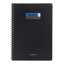 渡边 Gambol PP面双螺旋装订笔记本 DS5000 A5 (黑色、灰色) 60页/本