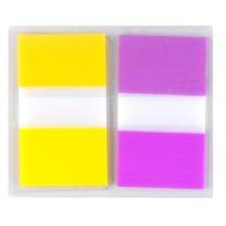 3M 透明塑料 指示标签 680-2PK-3 25*44mm*2 (黄色、紫色) 20页/条 2条/包