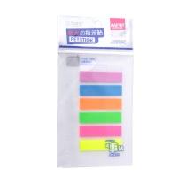 晨光 M&G 优事贴PET六分条自粘指示贴 YS-21 AS24O60102 48*12mm*6 (黄色、绿色、蓝色、橙色、紫色、粉红) 20张/条 6条/包