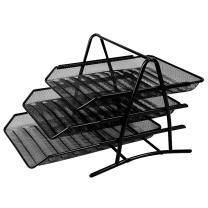 得力 deli 网状三层文件盘 9181 (黑色)