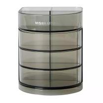 晨光 M&G 笔筒 ABT98443 450*450*245mm (黑色) 黑透三层组合型橡胶