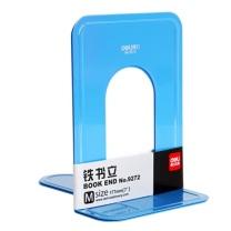 得力 deli 金属铁书立架 9272 7英寸 2片/付 (蓝色)