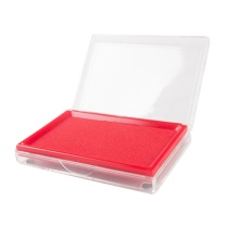 晨光 M&G 印台 AYZ97513 138*88mm (红色) 文具红色财务专用印台 方形透明快干印泥