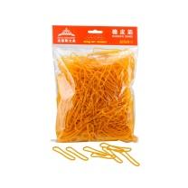 杰丽斯 长形橡皮筋 002 250g/袋 (黄色)
