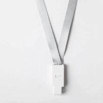 优和 UHOO 平带挂绳 6712 10mm (灰白色)