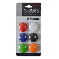 得力 deli 磁粒 7825 30mm (混色) 6个/卡