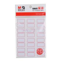 晨光 M&G 自粘性标签 YT-16 12枚*10 27*24mm (红色) 10张/包 (二格)