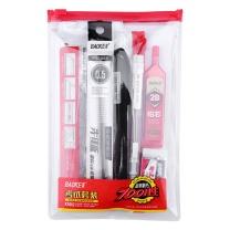 宝克 金榜题名考试套装 KS002 绘图套尺+中性笔+涂卡铅笔+笔芯+橡皮 (混色)