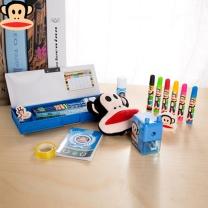 大嘴猴 Paul Frank 豪华文具套装 PFS002T-A 48.5cm*31cm*8.5cm  大嘴猴笔盒、12色油画笔、4支装大皮头铅笔、迷你订书机、可伸缩式直尺、全自动铅笔组橡皮、削笔机