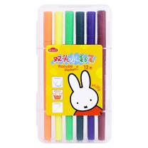 晨光 M&G 双头水彩笔米菲12色 FCPN0238  24套/包 6包/箱